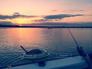 東京湾の日の出、そして釣り - No.958270