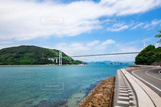 離島を繋ぐ橋と海道の写真・画像素材[952995]