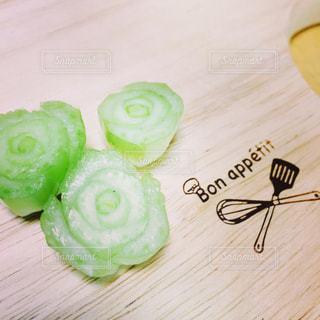 小松菜の断面は薔薇みたいの写真・画像素材[956019]