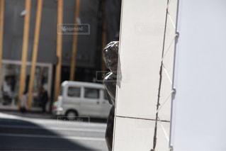 近くの通りのアップの写真・画像素材[1033082]