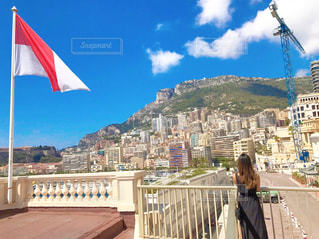 モナコの町と私の写真・画像素材[964962]