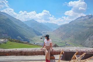 スイスの大自然に囲まれての写真・画像素材[2125638]