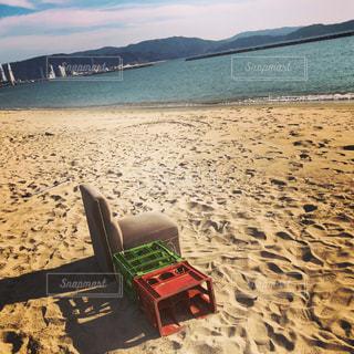 浜辺の椅子の写真・画像素材[2172300]