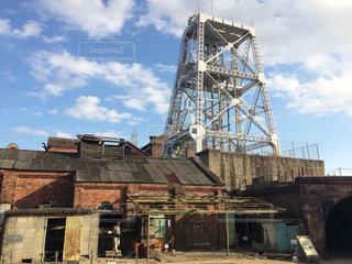 三池炭鉱のクレーンの写真・画像素材[958234]