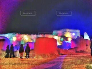 氷のライトアップの写真・画像素材[965255]