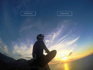 石垣島の西端からのサンセット - No.959528