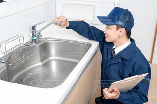 水道業者 人物の写真・画像素材[3961428]