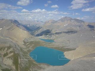 ドローンから見たロッキー山脈の写真・画像素材[959675]
