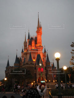 東京ディズニーランド、シンデレラ城ライトアップ - No.962437