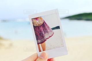 砂浜とチェキの写真・画像素材[960389]