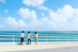 宮古島の橋から望むの写真・画像素材[960391]