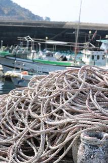 出航をまつ漁船の写真・画像素材[1028958]