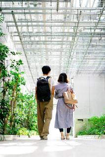 歩いている男女の写真・画像素材[2440508]