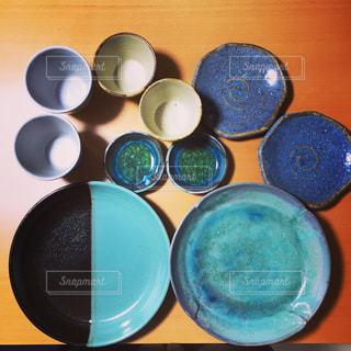 益子焼の皿の写真・画像素材[964014]