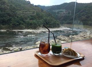 四万十のカフェでお茶の写真・画像素材[961805]