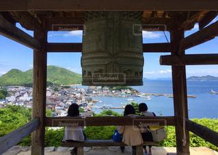 鞆の浦を見下ろすお寺からの写真・画像素材[961855]