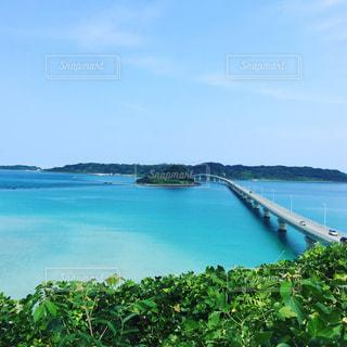 夏の角島大橋の写真・画像素材[964012]