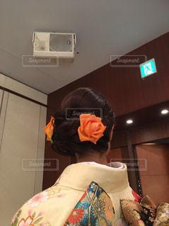 生花の髪飾りの写真・画像素材[964658]