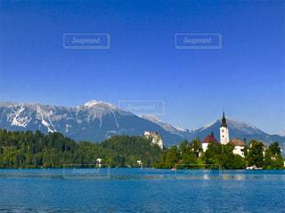 スロベニア共和国、ブレッド城の写真・画像素材[962714]