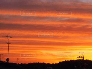 街に沈む夕日の写真・画像素材[962898]
