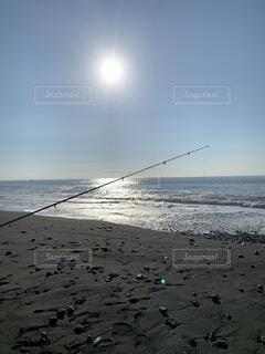 快晴 釣り人の写真・画像素材[3653689]