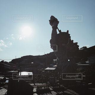 【秋田山形の旅写真】門前のなまはげ立像👹 - No.1235245