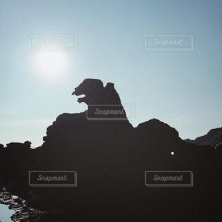 【秋田山形の旅写真】ゴジラ岩🦖の写真・画像素材[1235246]