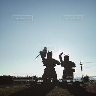 【秋田山形の旅写真】逆光のなまはげさん🌚👹 - No.1235247