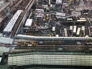 渋谷スクランブルスクエアから見下ろす景色の写真・画像素材[2794637]