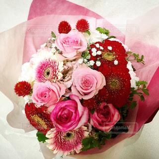 ピンクの花の花束の写真・画像素材[972408]