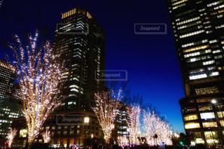 東京駅のイルミネーションの写真・画像素材[967010]