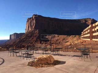 アメリカアリゾナ州モニュメントバレー THE VIEW HOTELの外観の写真・画像素材[1097794]
