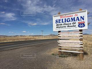 アメリカアリゾナ州ゼリグマン ルート66の写真・画像素材[1113931]