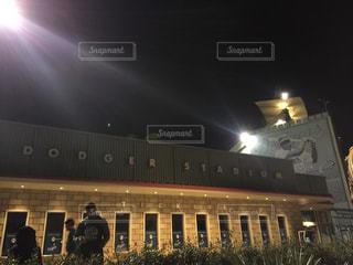 アメリカカリフォルニア州ロサンゼルス ロサンゼルスマラソン ドシャースタジアムの写真・画像素材[1114103]