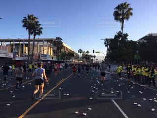 アメリカカリフォルニア州ロサンゼルス ロサンゼルスマラソンの写真・画像素材[1115199]