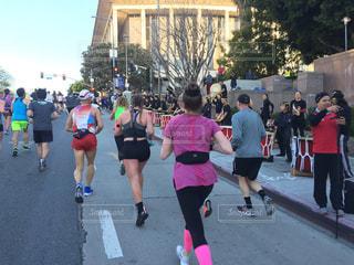 アメリカカリフォルニア州ロサンゼルス ロサンゼルスマラソンの写真・画像素材[1115200]
