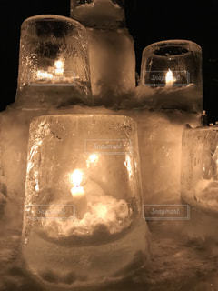 氷のキャンドルの写真・画像素材[992966]