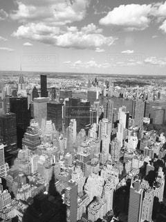 マンハッタンのビル群(モノクロver)の写真・画像素材[969230]