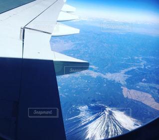 日本上空からみる富士山の写真・画像素材[969471]
