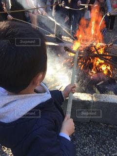 どんと焼きの写真・画像素材[971447]