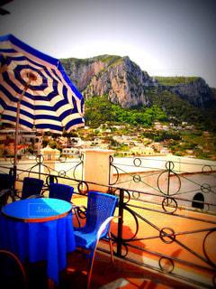 カプリ島のカフェの写真・画像素材[1036959]