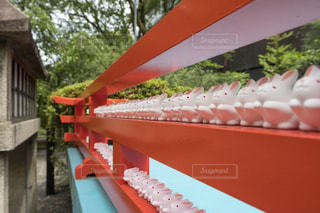 岡崎神社、通称うさぎ神社のうさぎの置物の写真・画像素材[1291263]