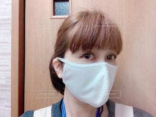 白い立体マスクの写真・画像素材[3225609]