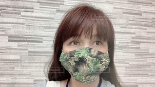 西村大臣風の手縫いマスクの写真・画像素材[3272434]