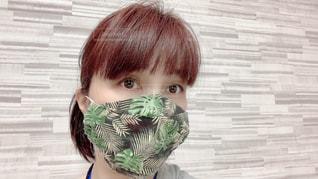 西村大臣風の手縫い立体マスクの写真・画像素材[3273254]