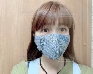 UVタオルの立体マスクの写真・画像素材[3372062]