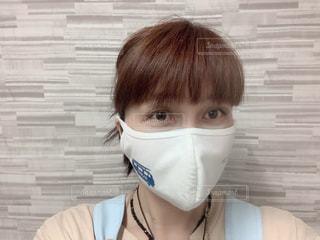 行政から頂いた立体マスクにワンポイントで熱転写シートをつけてお洒落に‼️の写真・画像素材[3372244]