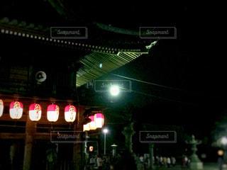 盆踊りの提灯の写真・画像素材[1368867]
