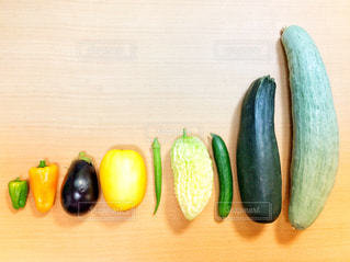 夏野菜の整列の写真・画像素材[1378263]