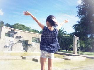 噴水がある風景の写真・画像素材[1393324]